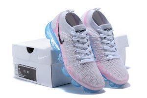2789174c882f Nike Air VaporMax Flyknit TPU Grey Black Pink Women u0027s Running Shoes