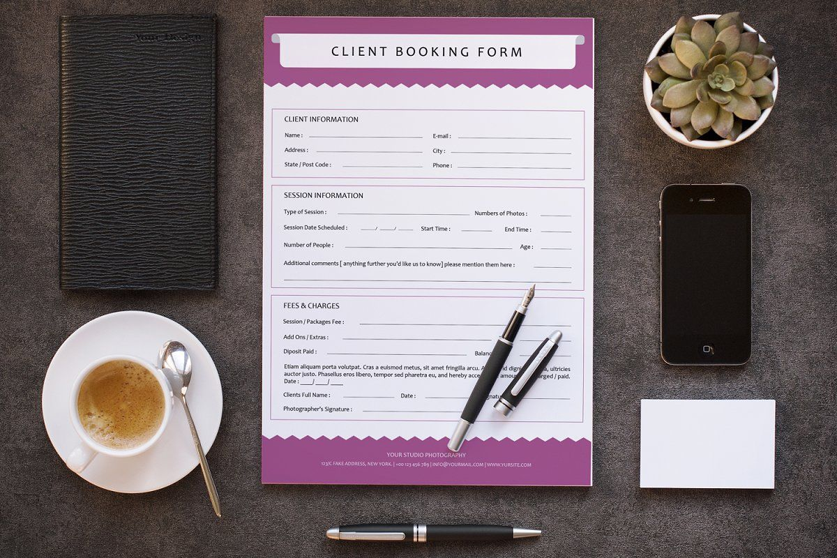 Client Contract Booking Form V293 Invoice Template Invoice Design Receipt Template