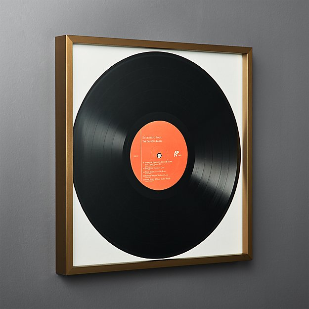 Gallery Brass Record Frame With White Mat In 2020 Framed Records Vinyl Record Display Records