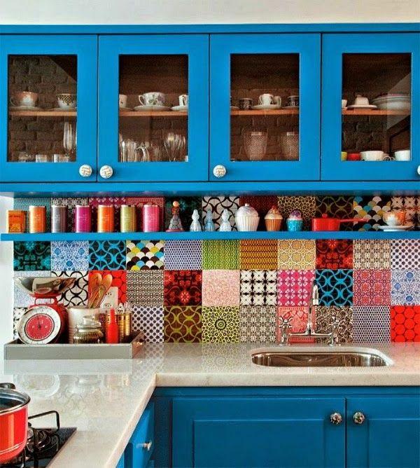 le plus coloré carrelage mural pour la cuisine   Ideas for the House ...