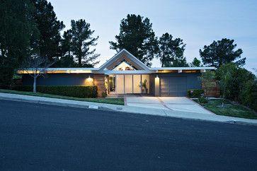 Dvojlôžková izba Gable Eichler prerobiť - midcentury - Exteriér - San Francisco - Klopf Architektúra