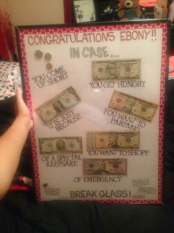 Money Gift Frame Awesome Ideas Helps And Hints Graduation Gifts