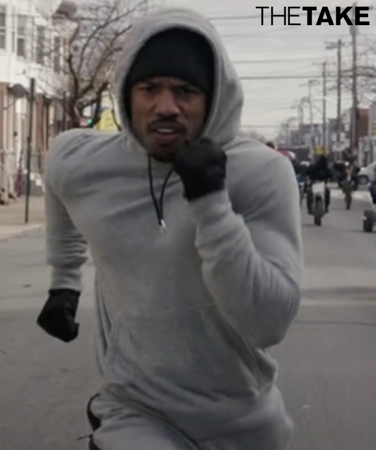 f128d363a38e55 Jordan All-Around Pullover Hoodie as seen on Adonis Johnson in Creed ...