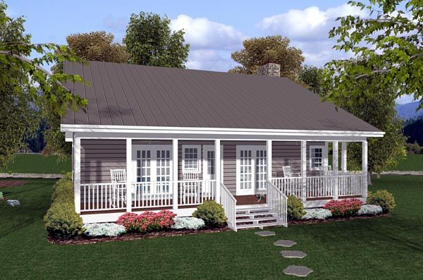 Traditional Style House Plan 92388 With 2 Bed 2 Bath Vacation House Plans Cottage House Plans Ranch House Plans