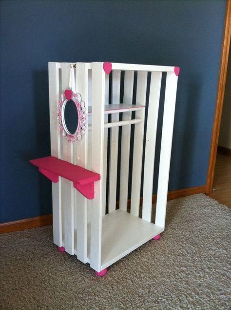 18 Puppenschrank. Einfach zu machen - #einfach #machen #Puppenschrank #vetement #zu #barbiefurniture