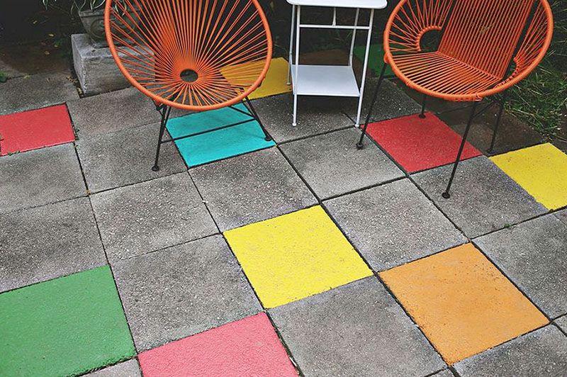9 astuces pour dynamiser votre terrasse Gardens - peindre une terrasse en beton