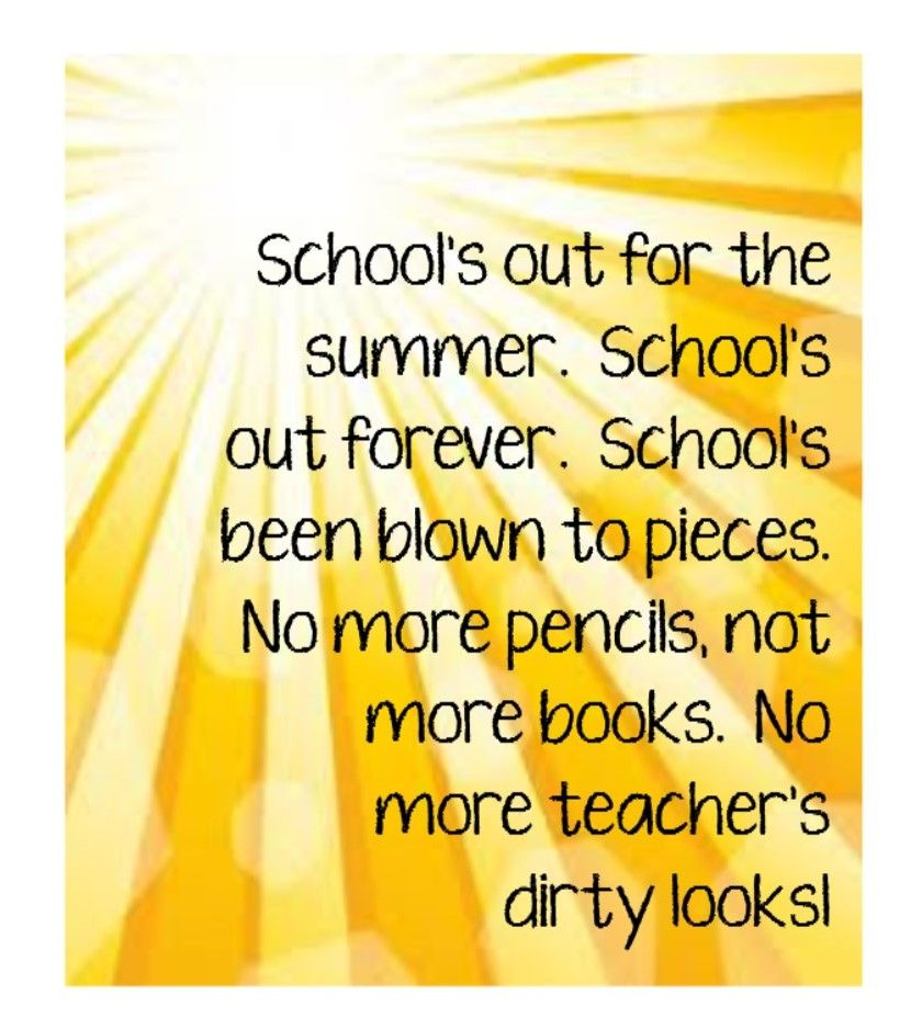 School's Out ~ Alice Cooper | Lyrics and Music | Pinterest ...