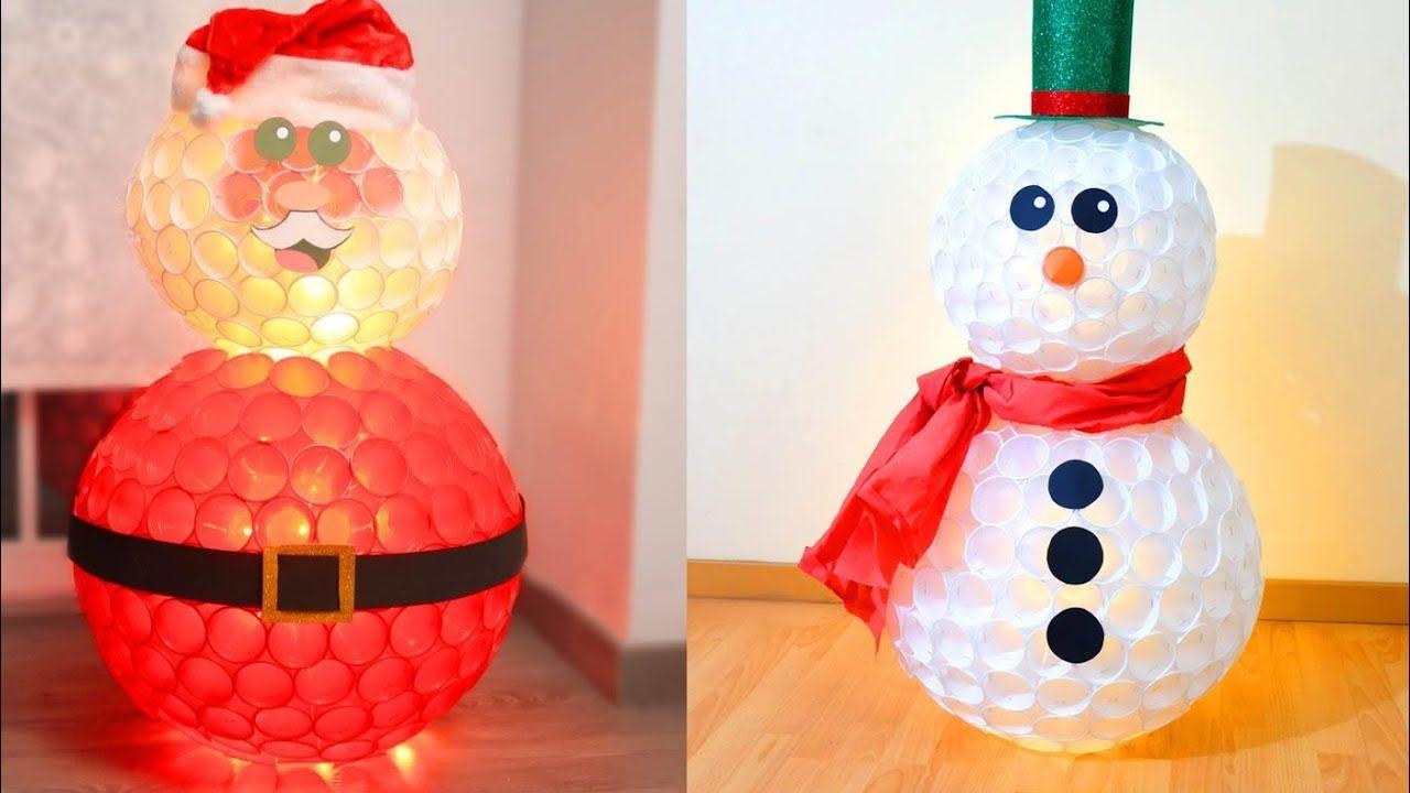 4 Munecos De Nieve Que Puedes Hacer Esta Navidad Muneco De Nieve Manualidades