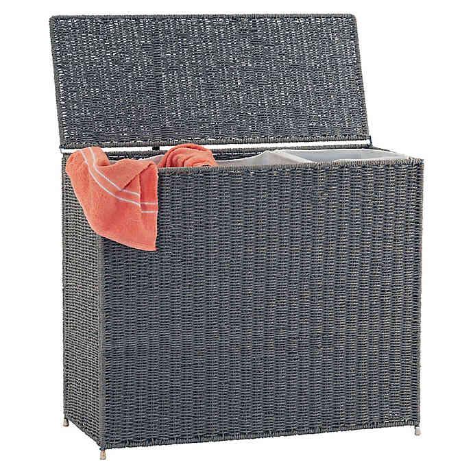 Paper Rope 3 Bag Sorter Laundry Hamper With Liner Bed Bath