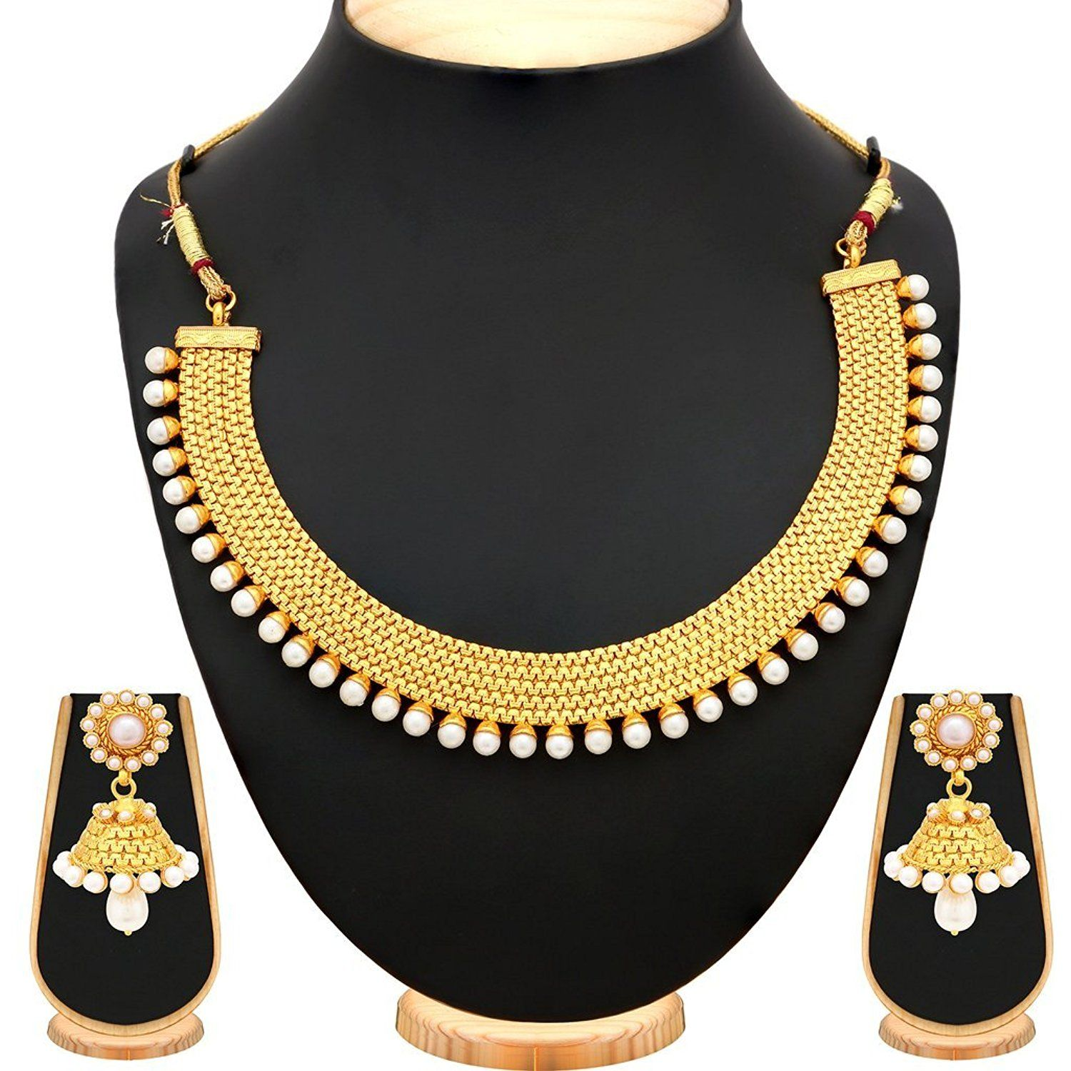 406a077c8 Buy Sukkhi Modish Gold Plated Necklace Set For Women Online at Low Prices  in India | Amazon Jewellery Store - Amazon.in