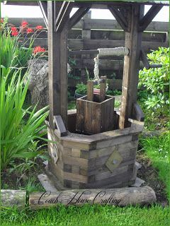 Garden Wishing Well, DIY Wooden Well, Garden Ornament