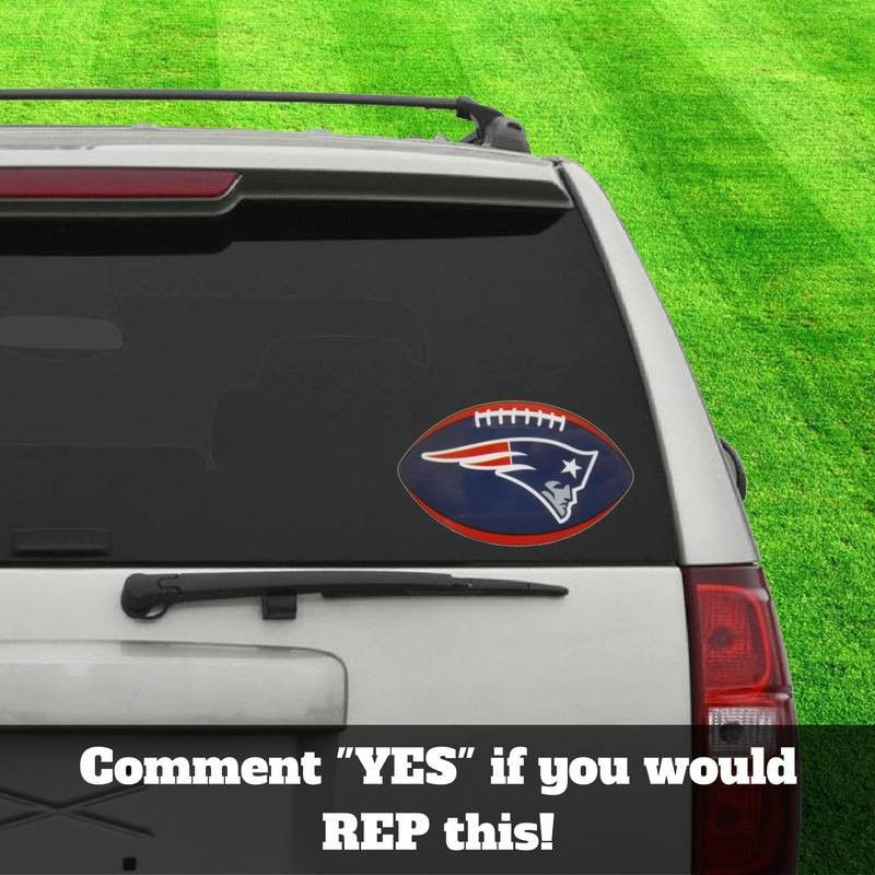 Limited edition new england patriots car decal