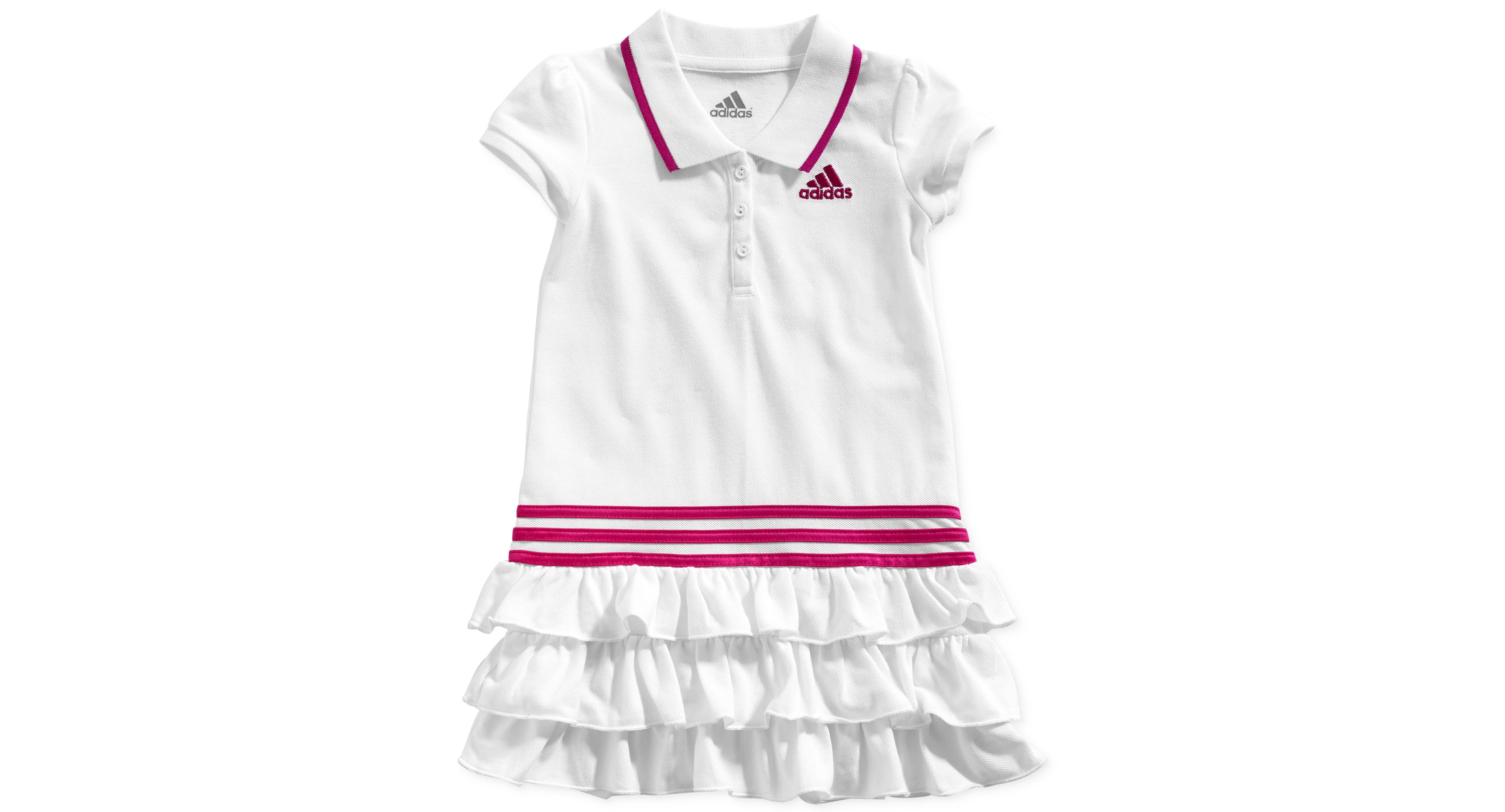 adidas Little Girls Ruffle Polo Dress Products
