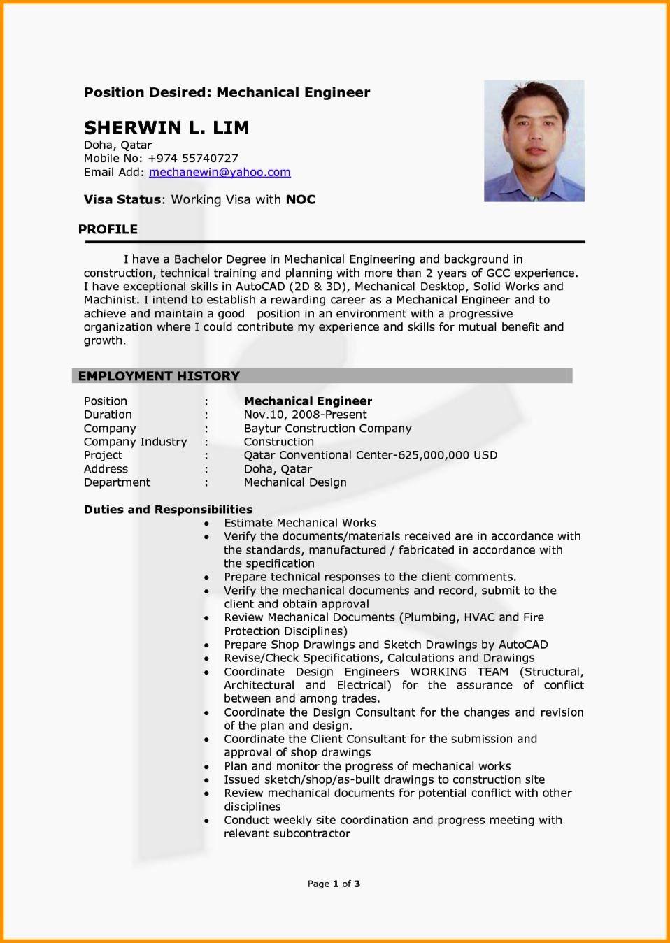 25 mechanical engineer resume templates in 2020