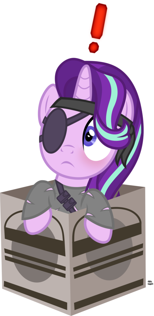 2220933 Safe Artist Anime Equestria Starlight Glimmer Pony Unicorn Big Boss Blushing Box Caught Clothes Cute Pony Metal Gear Solid My Little Pony