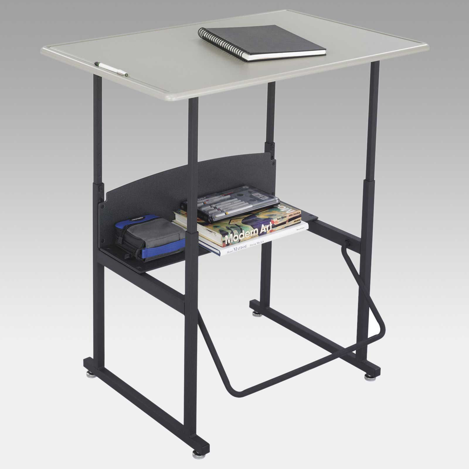 Alphabetter Metal Computer Desk With Adjustable Height Metal Computer Desk Diy Storage For Small Spaces Computer Desk Height