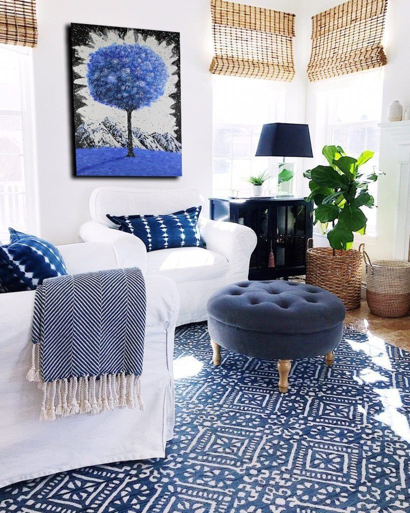 Pin On Benyuska Art Blue living room decor