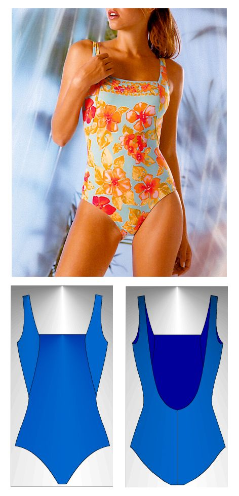 Swimsuit sewing pattern Corfú - Patrón de traje de baño Corfú ...