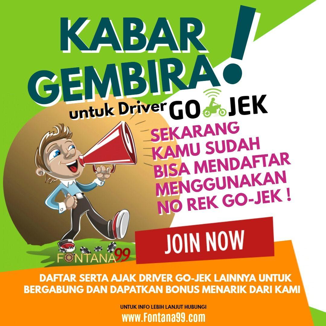 Go Jek Drivers: Pin Di Agen Judi Bola