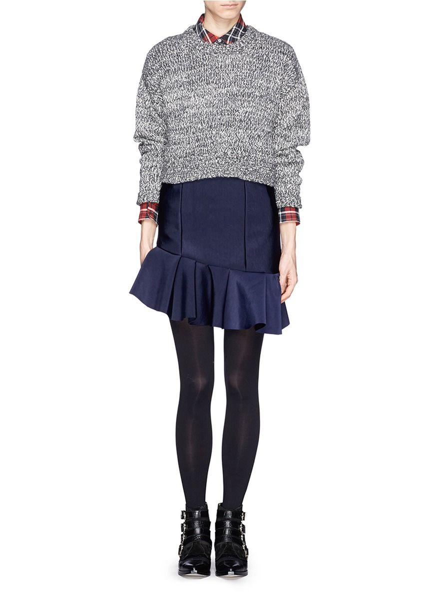 Image result for maje ruffle blue skirt