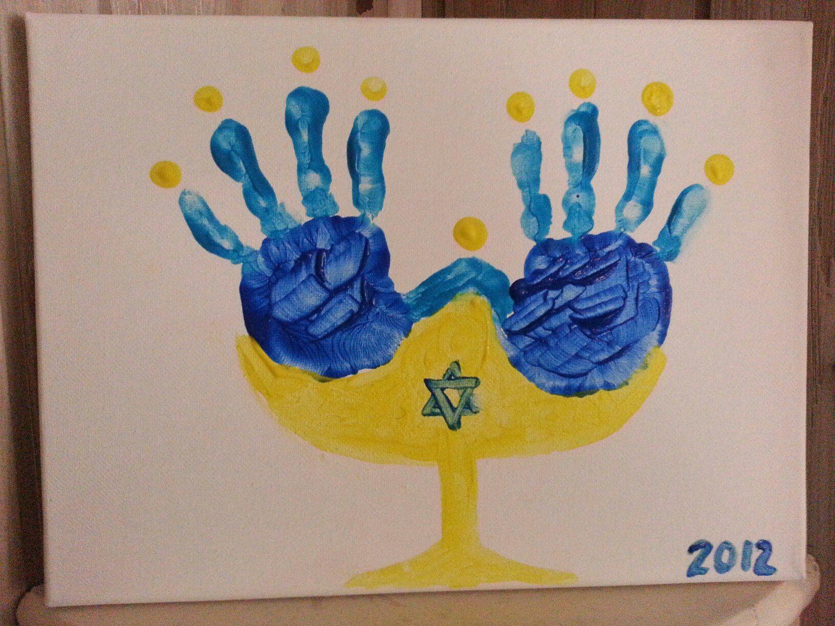 Handprint Menorah