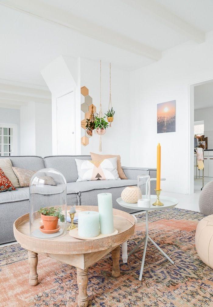 Wohnzimmer skandinavisch einrichten 22 Ideen für Hussensofa