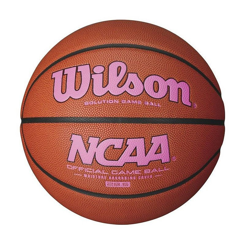 Wilson Ncaa Intermediate Size Game Basketball Pink Logo  d32c970f01
