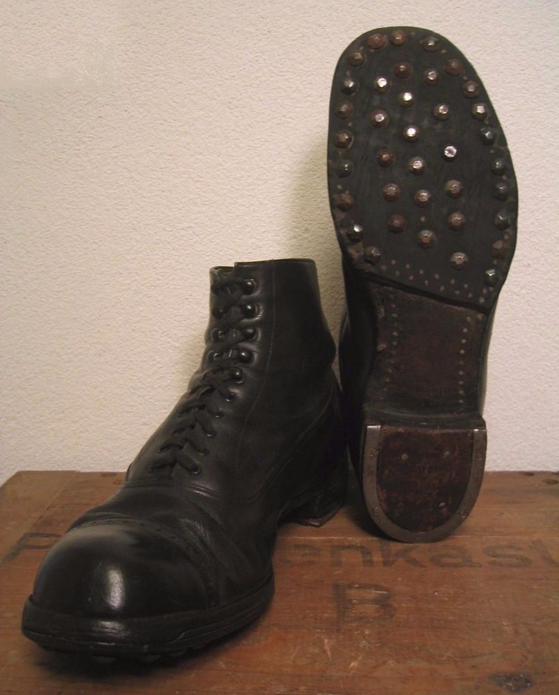 WW2 GERMAN PANZER OFFICERS ELITE ANKLE BOOTS Hobnails