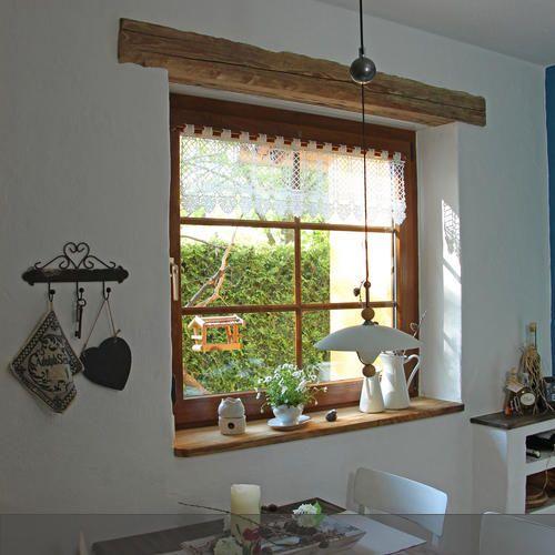 Der Alte Balken Als Fenstersturz Passt Gut Zum Tisch