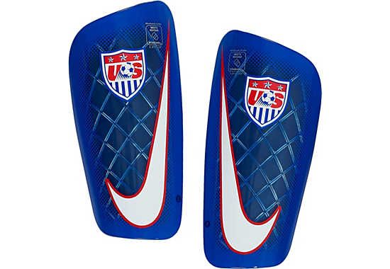 fantastic savings hot product authentic Nike USA Mercurial Lite Shin Guards - Blue/Red...available ...