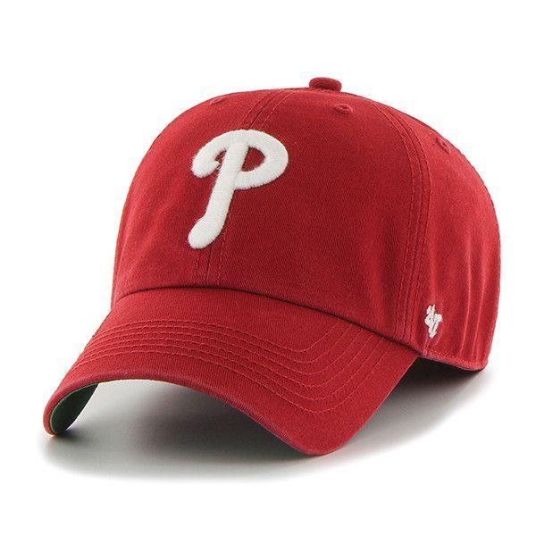 new concept 00a33 b1f5d Philadelphia Phillies 47 Brand Franchise Red White P Logo Hat Cap
