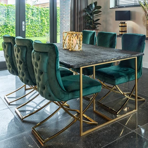 Belfort Industrial Dining Table And Celine Chairs In 2020