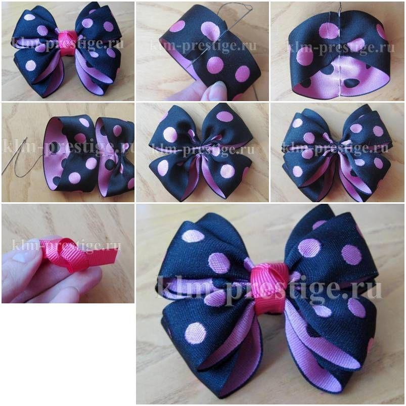 How to make easy double satin ribbon bow step by step diy tutorial resultado de imagem para ribbon arts and crafts ideas solutioingenieria Image collections