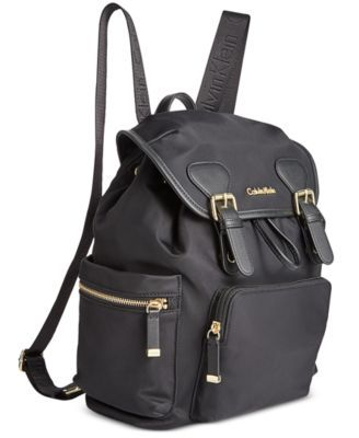 Calvin Klein Double Buckle Backpack - Handbags & Accessories - Macy's