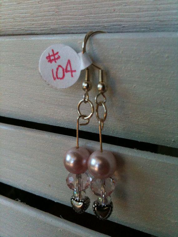 Silver Heart Beads Swarovski Faceted Rondelles by GodsGlitter