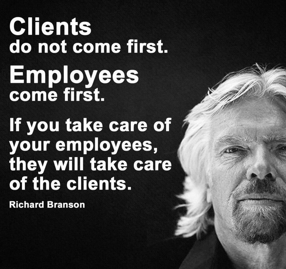 If You Take Care Of Your People Your People Will Take Care Of Your Customers And Your Business Will Take Car Monday Motivation Take Care Of Yourself Motivation