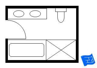 7x9 bathroom layout - Google Search | hall bathroom ...