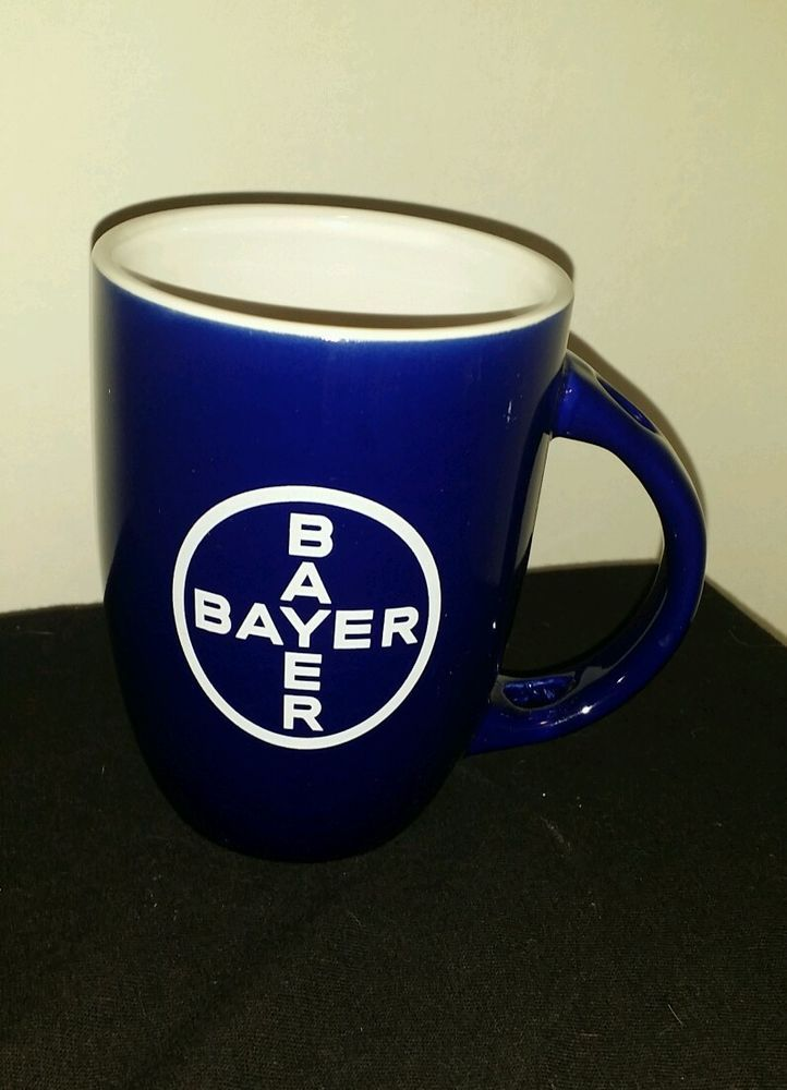 BAYER Pharmaceutical Drug Company MUG Navy Blue Pharmacy Sales Rep