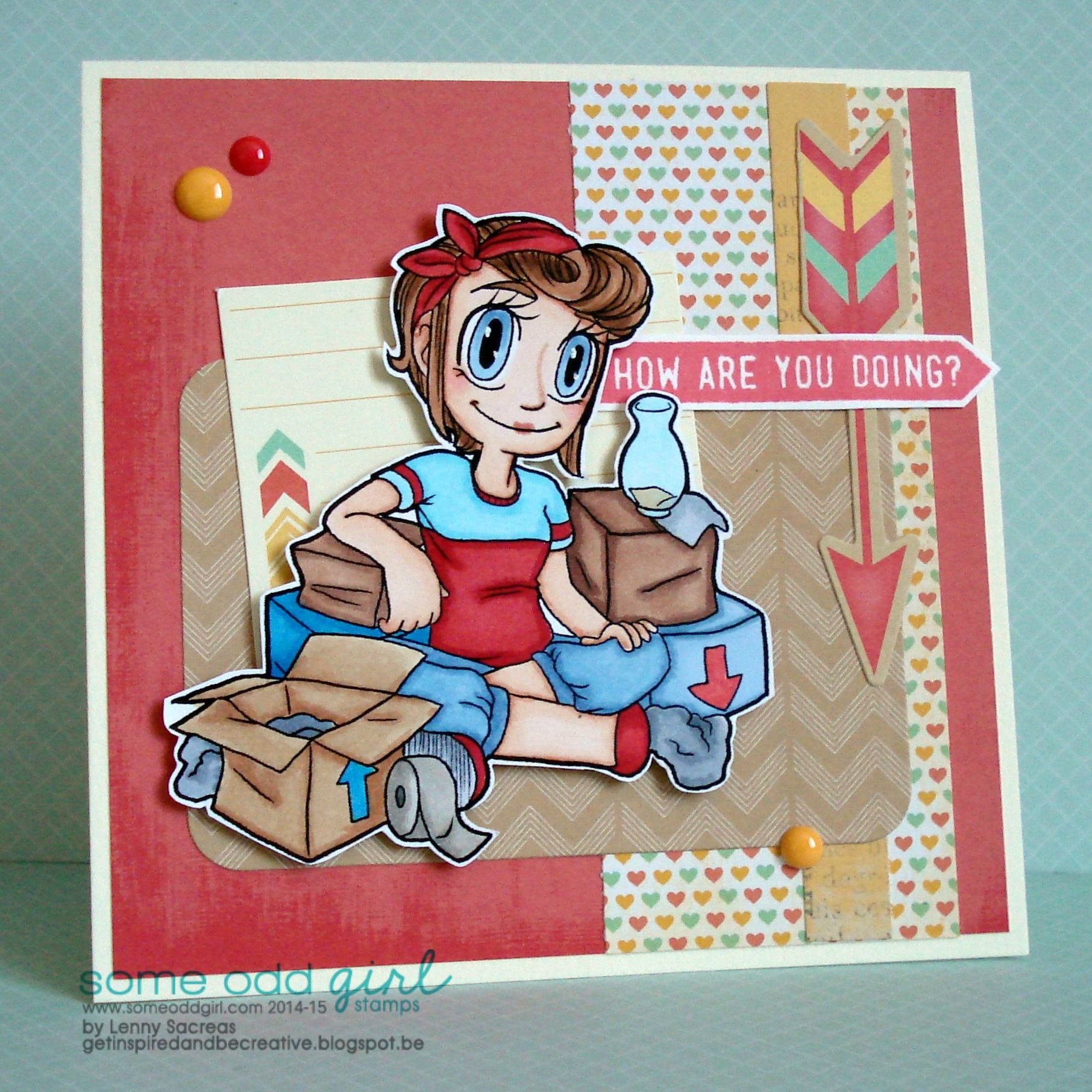 How are you doing??? someoddgirl digi stamp Moving