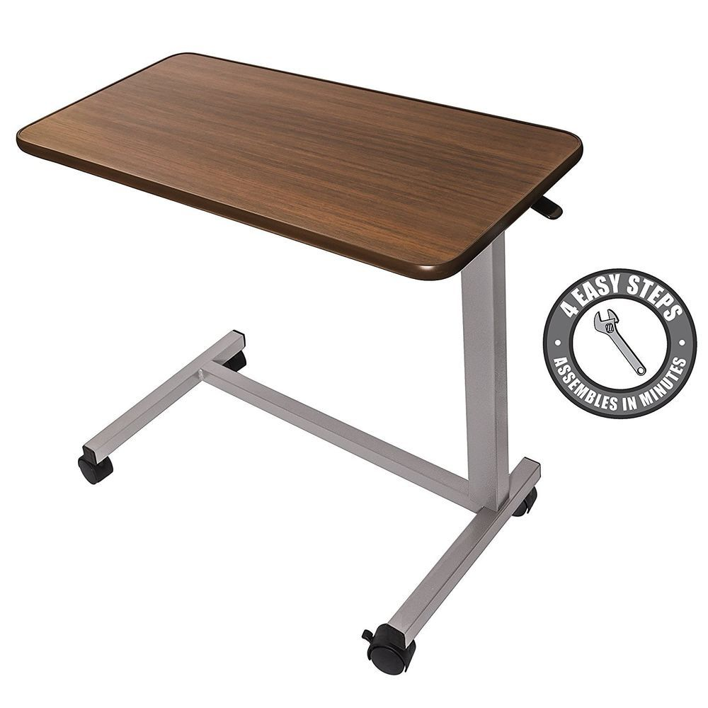 Hospital Bedside Table Patient Adjustable Coffee Breakfast Over Bed Laptop Desk Hospitalbedsidetables Overbed Table Hospital Bedside Tables Medical Furniture