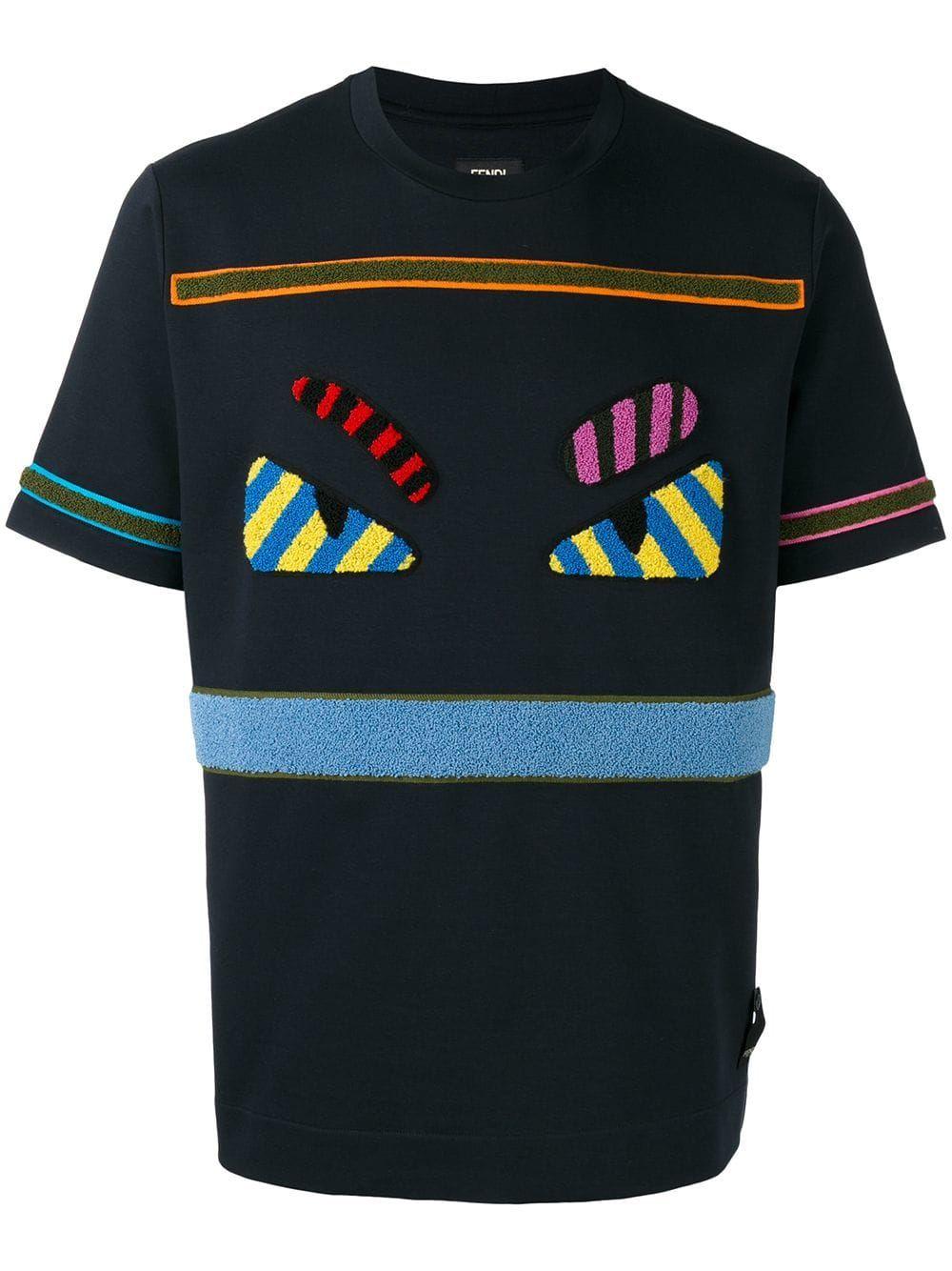 b91ef13e8692 FENDI FENDI BAG BUGS T-SHIRT - BLACK.  fendi  cloth