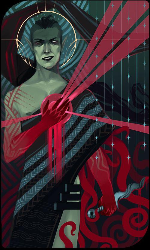 Elven blood mage tarot by Nekogoroshi-Sama deviantart com on