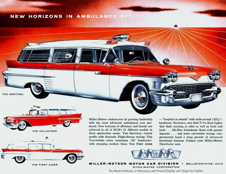 Ambulances from the 1950s: Vintage rescue vehicles – Click Americana