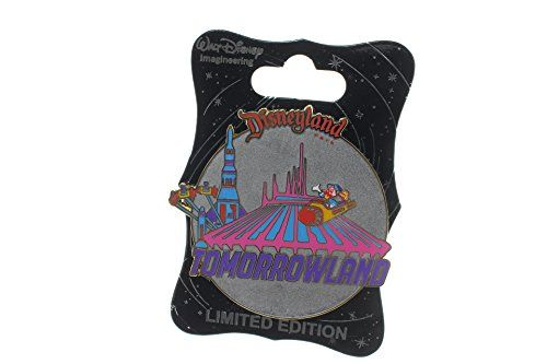 Disney WDI – Retro – Tomorrowland Limited Edition 300 Pin http://www.newlimitededition.com/disney-wdi-retro-tomorrowland-limited-edition-300-pin/ Pin released at MOG at D23 Expo. Tomorrowland with Space Mountain, Astro-Jets and the former Rocket to the Moon. Includes Donald and Pluto riding an Astro-Jet. The word Tomorrowland appears in purple lettering toward the bottom of the pin with Disneyland® Park in red at the top