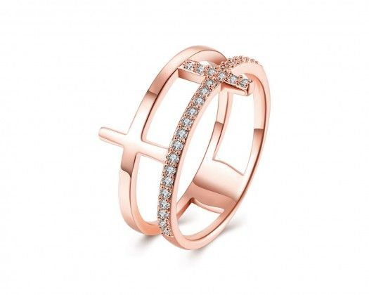 Gemmart Classic Ring Rose Gold Color womens engagement rings