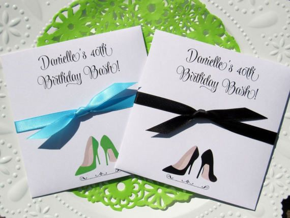 Adult Birthday Party Favors Each Lottery Ticket Envelope Is Personalized For The Guest Of Honor By Abbey And Izzie Designs