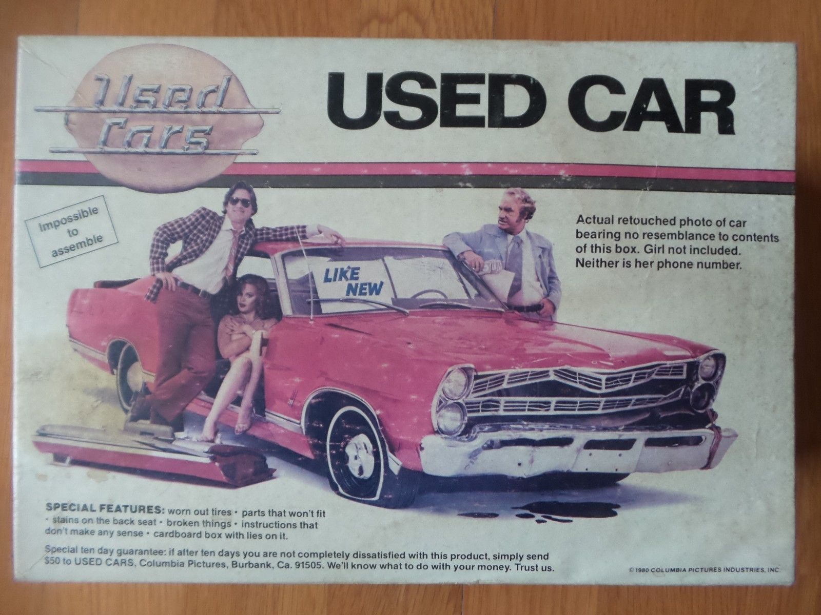 Vintage Used Cars Movie Promo Model Kit Columbia Pictures Rare