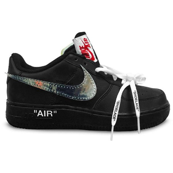 Virgil Abloh Reveals His OFF-WHITE x Nike Air Force 1 ❤ liked on Polyvore