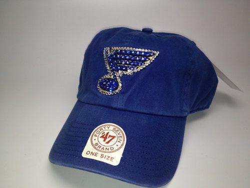 brand new 3c6c2 2af87 St. Louis Blues Swarovski Hat by STL Sparkle