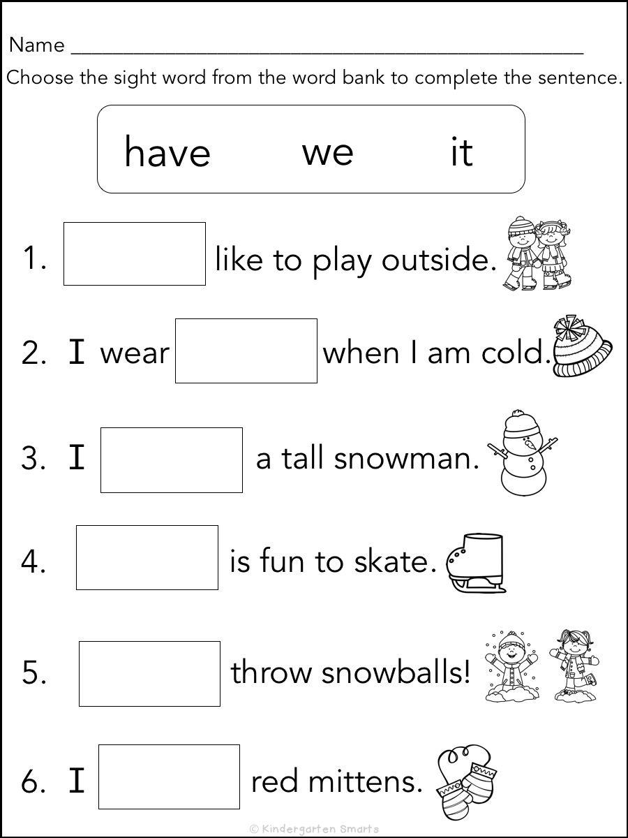 Writing Sight Words Worksheets Kindergarten